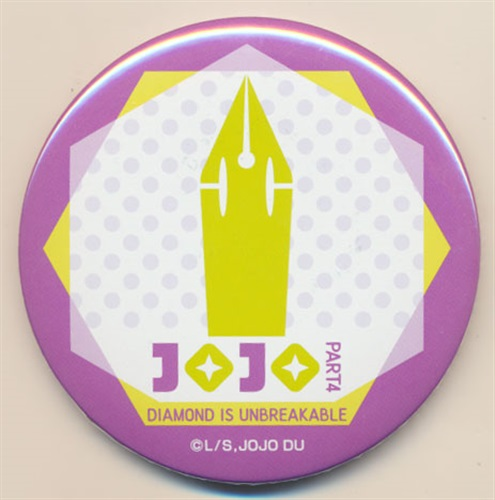ジョジョの奇妙な冒険 ダイヤモンドは砕けない 缶バッジ 岸辺露伴 ロゴ 【コミケ90】