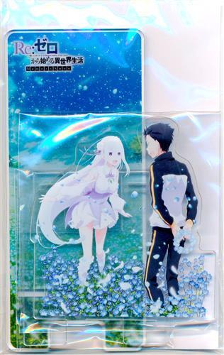 Re:ゼロから始める異世界生活 Memory Snow ジオラマスマホスタンド エミリア&ナツキ・スバル