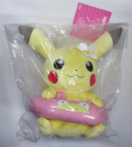 一番くじ ポケットモンスター Pikachu and Friends ~HAPPY BEACH TIME~ C賞 うきわぬいぐるみ ピカチュウ メス