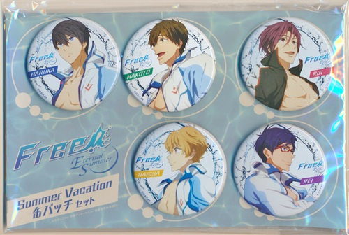 Free!-Eternal Summer- Summer Vacation 缶バッチセット