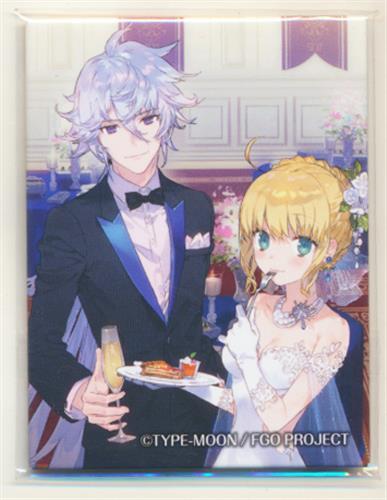 Fate/Grand Order スクエアバッジ(缶バッジ) アヴァロン・セレブレイト マーリン(キャスター)&アルトリア・ペンドラゴン(セイバー)