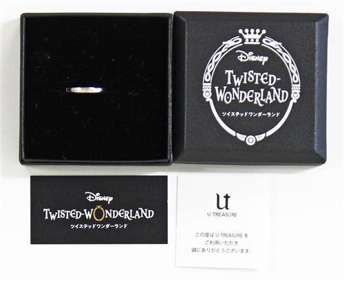 Disney TWISTED-WONDERLAND メッセージリング ポムフィオーレ寮 シルバー