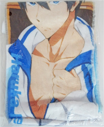 Free! もふもふマフラータオル 七瀬遙 【アニメディアDELUXE Vol.5 2013年10月号 全プレ】