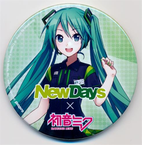 VOCALOID NewDays×初音ミク トレーディング缶バッジ 初音ミク NewDays制服ver.