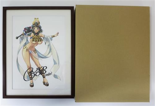 クイーンズブレイド 直筆サイン入り複製原画 古代の王女メナス