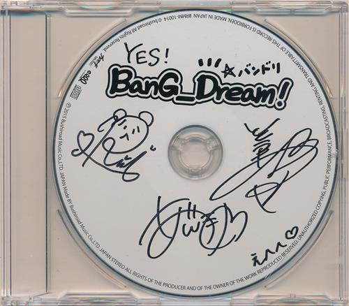 BanG Dream! 直筆サイン入りCD 【来場者特典】 【秋葉原店出品】