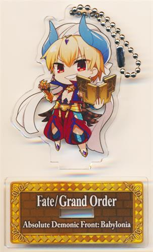 Fate/Grand Order -絶対魔獣戦線バビロニア-×セガコラボカフェ スタンド付きデフォルメアクリルキーホルダーA ギルガメッシュ(キャスター)
