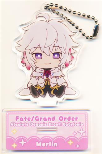 Fate/Grand Order -絶対魔獣戦線バビロニア-×セガコラボカフェ スタンド付きデフォルメアクリルキーホルダーB マーリン(キャスター)