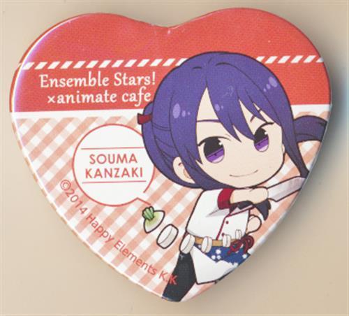 あんさんぶるスターズ!×アニメイトカフェ トレーディングハート型缶バッジ 夢ノ咲コックver. Aグループ 神崎颯馬