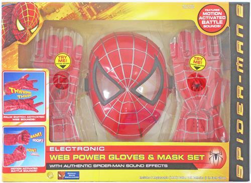 映画 スパイダーマン2 エレクトロニック・ウェブパワー・ブローブ&マスクセット