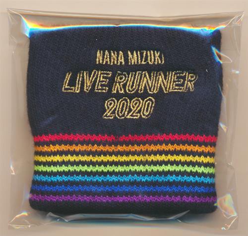 水樹奈々 NANA MIZUKI LIVE RUNNER 2020 リストバンド A BLACK 【NANA MIZUKI LIVE RUNNER 2020】