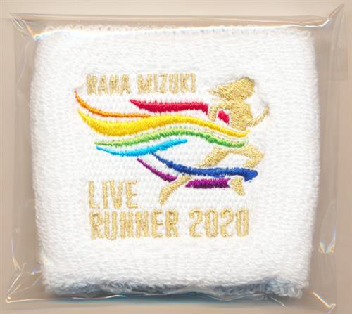水樹奈々 NANA MIZUKI LIVE RUNNER 2020 リストバンド B WHITE 【NANA MIZUKI LIVE RUNNER 2020】